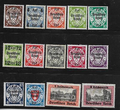 Deutsches Reich:Mi.Nr. 716-729 **