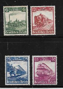 Deutsches Reich:Mi.Nr. 540-543 **