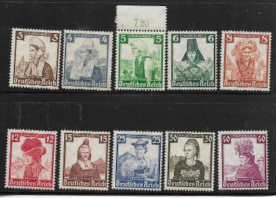 Deutsches Reich:Mi.Nr. 588-597 **/*