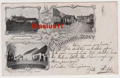 Pšovka - klášter, náves - okr. Mělník - 1902
