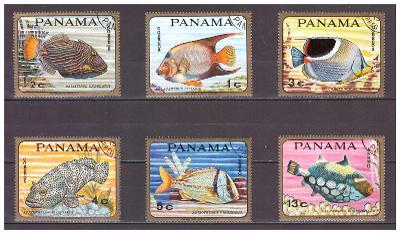 "Panama 1968 ""Tropical fishes"" Michel 1070-1075"