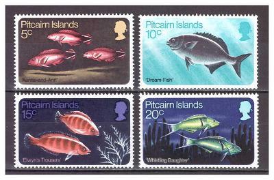 "Pitcairn 1970 kompletní série ""Pacific Fishes"""
