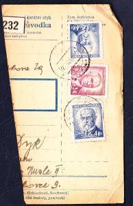ČSSR - ústřižek průvodky - CHEB 1 - 1946