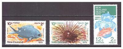 "Nový Zéland 1979 ""Health Stamps 1979. Marine Life"""