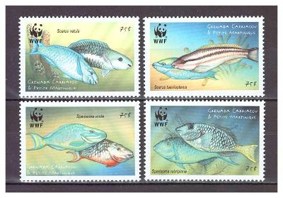 Grenada - Carriacou & Petite Martinique 2001 Worldwide con.:Parrotfish