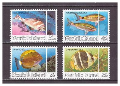 "Norfolk 1984 kompletní série ""Reef fish"""