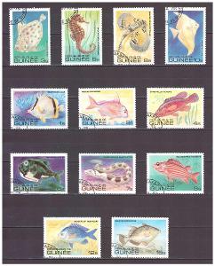 "Guinea 1980 kompletní série ""Fishes (1980)"""