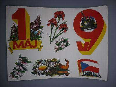 Plakát - 1. máj - komunismus, propaganda