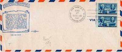 USA - FDC - New York - 17.5.1947