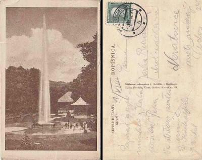 Herľany, kúpele, gejzír -1932