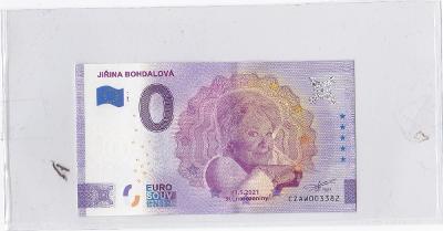 0 Euro, Jiřina Bohdalová, bankovka Euro Souvenir