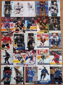 100 karet Čechů a Slováků z NHL - řadovky, inserty