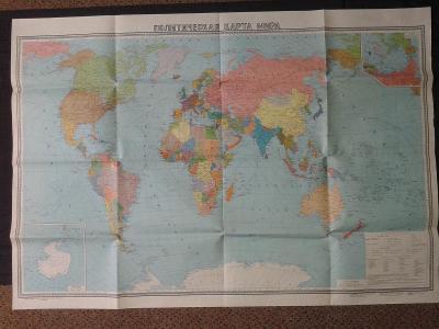 2 x mapa světa - Ruská + ČSA