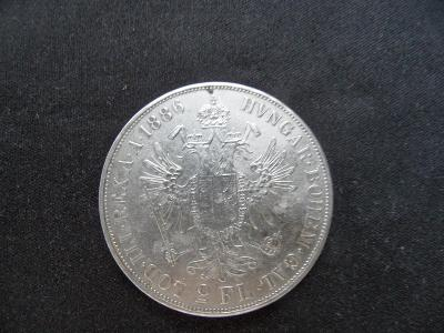 2 FLORIN/GULDEN/ZLATNÍK 1886  F.J. I.
