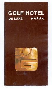 GOLF HOTEL MARIÁNSKÉ LÁZNĚ reklamní prospekt # 1990