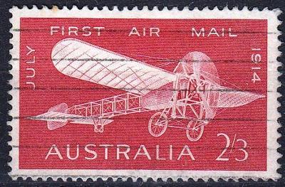 Austrálie 1964 Mi.347 prošla poštou, letadla