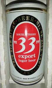 Stará ocelová pivní plechovka 35cl - Nigérie