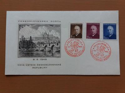 ČSR Nová ústava 9.5. 1948 příl. raz. President E. Beneš
