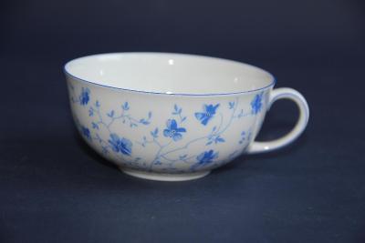 porcelánový šálek modré květy Drážďany VÍC V POPISU