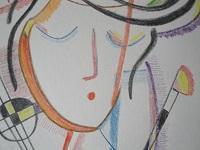 portrét dívky - kresba