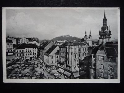 stará pohlednice Brno - Radniční věž, Špilberk