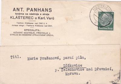 Sudety, firemní Klášterec nad Ohří 1939 (Chomutov) -Lužkovice, Zlín.
