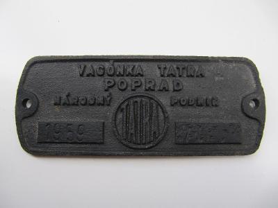 Štítek z železničního vozidla ČSD č.2