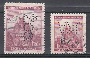 Protektorát  Perfiny sestava 2 ks známek