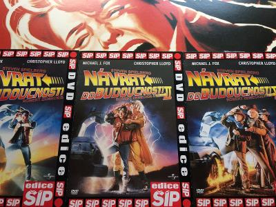 DVD v papíru - 3x DVD NÁVRAT DO BUDOUCNOSTI (trilogie)