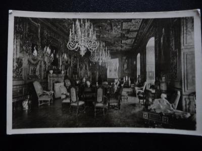 stará pohlednice Hluboká nad Vltavou - ranní komnata
