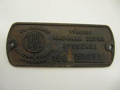 Štítek z železničního vozidla ČSD č.5