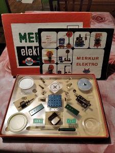 Stavebnice Merkur elektro 101 A  - 1 patro, kompletní na 99% + návod