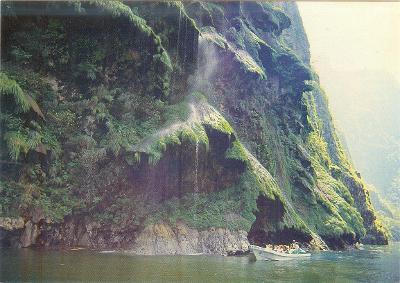 Mexico, Chiapas, Národní park Sumidero, vodopád Vánoční stromek,