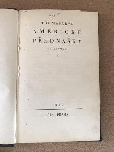 Americké přednášky - Masaryk Tomáš Garrigue