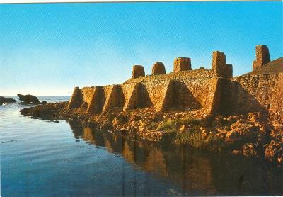 Alžírsko, El Kala, ruiny římské pevnosti, neprošlá