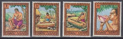 ** Samoa Mi.320-23 Hudební nástroje