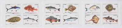 ** Francie Mi.7262 - 7273 Mořské ryby
