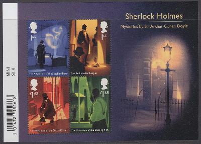 ** Velká Británie Mi.Bl.137 Scény z povídek Arthura C. Doyla, S.Holmes