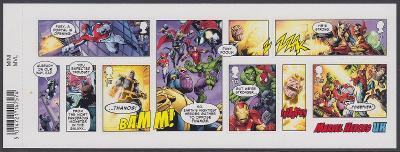 ** Velká Británie Mi.Bl.121 Kreslené postavičky - superhrdinové Marvel