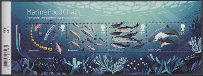 ** Velká Británie - Mořský potravinový řetězec (aršík)