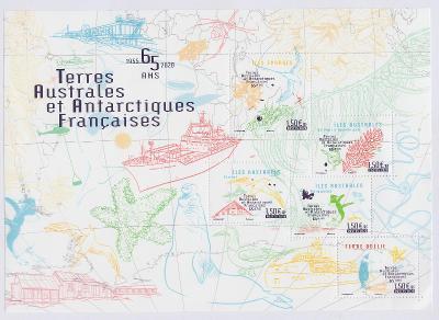 ** TAAF Mi.Bl.82 65 let francouzských území v Antarktidě (II)