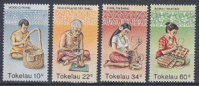 ** Tokelau Mi. 74-77 Ruční práce