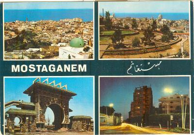 Alžírsko, město Mostaganem, zajímavosti, prošlá se známkou
