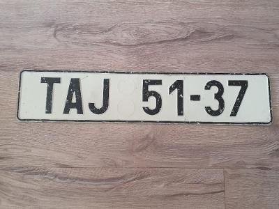 Stará registrační značka SPZ RZ - TAJ