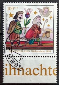 DEUTSCHLAND: MiNr.2023 Shepherds100pf+50pf, Christmas Issue, DK 1998