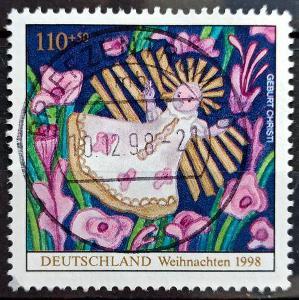 DEUTSCHLAND: MiNr.2024 Holy Child 110pf+50pf, Christmas Issue 1998