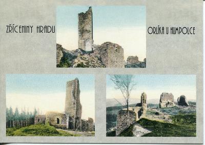 Orlík u Humpolce (Pelhřimov), hrad - reprint historické pohlednice 1