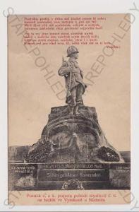 Vysokov - pomník praporu polních myslivců