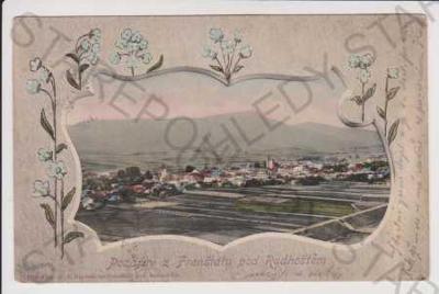 Frenštát pod Radhoštěm - celkový pohled, kolorovan