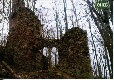 Oheb (Chrudim), hrad 1